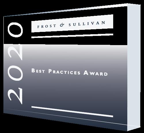 2020 Frost & Sullivan Best Practices Plaque